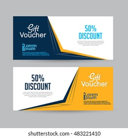 creative vector templates for Gift Vouchers or Sale Banners with nice and beautiful design illustration.