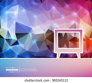 Creative vector tv. Art illustration template background. For presentation, layout, brochure, logo, page, print, banner, poster, cover, booklet, business infographic, wallpaper, sign, flyer.