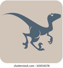 Creative Velociraptor Dinosaur Icon
