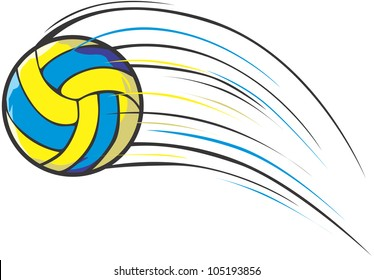 Creative Volleyball Illustration / Fast moving volleyball