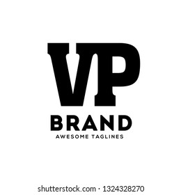 creative VP letter monogram strong and bold  logo vector concept