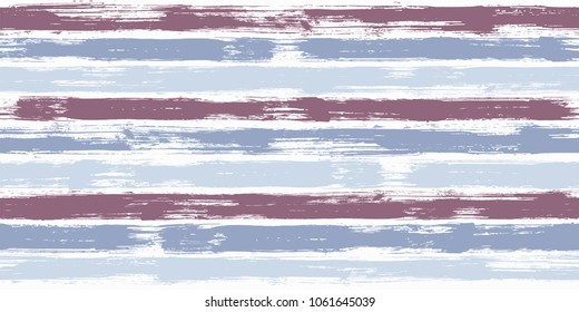 Creative watercolor brush stripes seamless pattern. Blue and purple paintbrush lines horizontal seamless texture for backdrop. Hand drown paint strokes graphic artwork. For fabric.