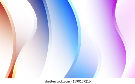 Creative Waves. Futuristic Technology Style Background. For Elegant Pattern Cover Book. Colorful Vector Illustration.