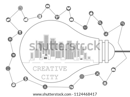 Creative Way Business City Stock Vector Royalty Free 1124468417