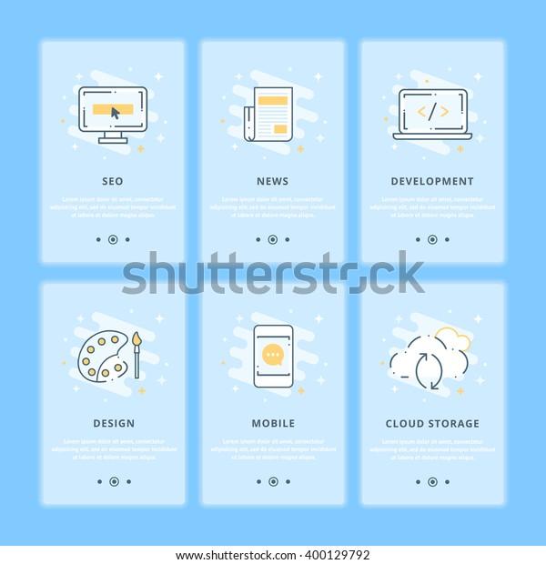 Creative Web Design Seo Development Flat Stock Vector Royalty Free 400129792