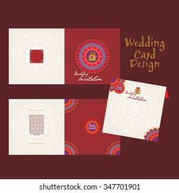 creative wedding invitation card vector