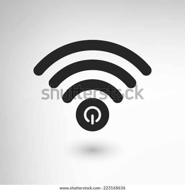 Creative WiFi icon with power element. EPS10 vector.