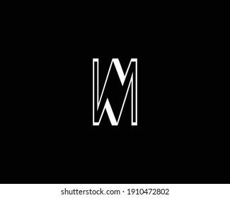 creative WM letter logo design vector template