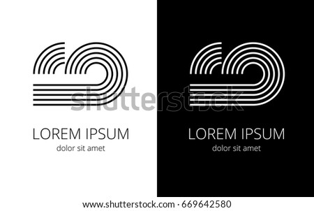 Creative Writing Letters C D By Stock Vector Royalty Free  Creative Writing Of Letters C And D By Lines For Company Name In Black And  White