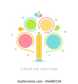 Creative Writing Plan Infographics Vector Template.