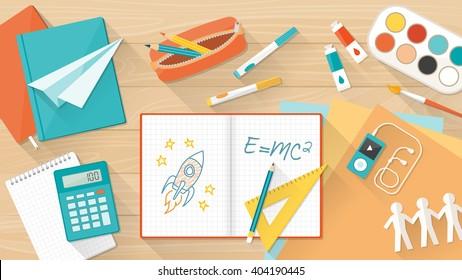 https://image.shutterstock.com/image-vector/creative-young-student-desktop-notebook-260nw-404190445.jpg