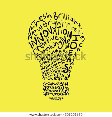 Creativity Creative Innovative Ideas Concept Background Stock Vector