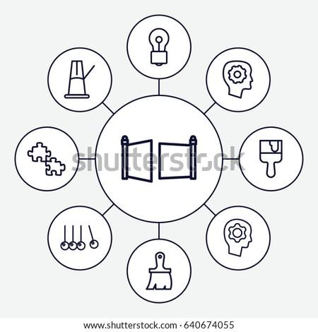 Creativity Icons Set Set 9 Creativity Stock Vector Royalty Free