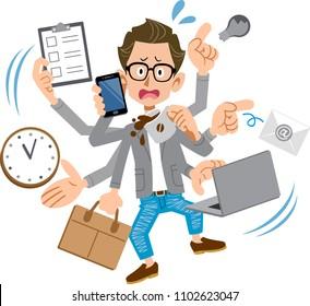 Creator-like men panicking too busy
