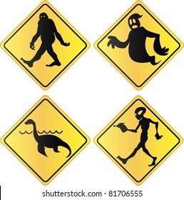 Creature crossing signs