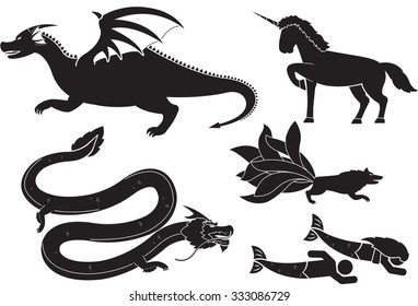 Creatures of Myth and Legend icon set
