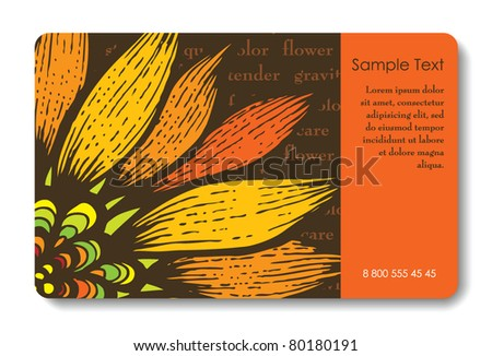 Credit card business card background design stock vector royalty credit card business card background design of standard size with a hand drawn flower and reheart Images