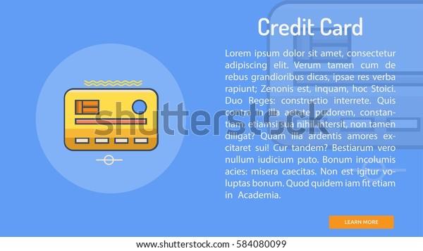 Credit Card Conceptual Banner Stock Vector (Royalty Free