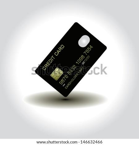 credit card design illustration plastic vector - Plastic Credit Card