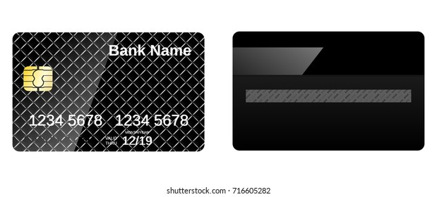 Credit card design with squares.