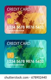 credit card. flat vector