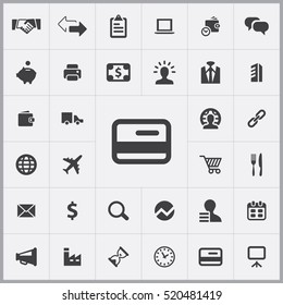 credit card icon. B2B icons universal set for web and mobile