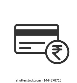 Credit card icon with Indian Rupee symbol