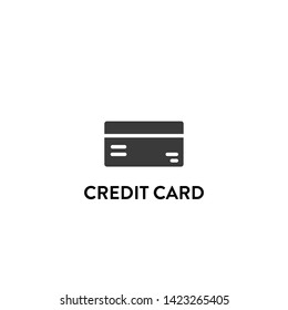 credit card icon vector. credit card vector graphic illustration