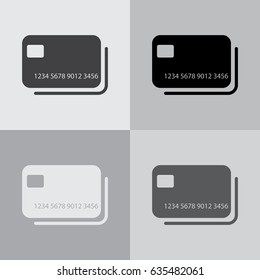 credit card icon. vector illustration