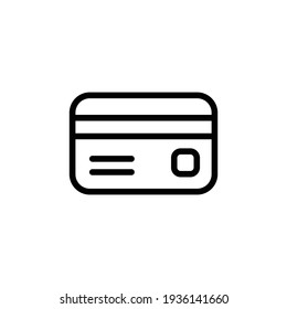 credit card icon vector from miscellaneous collection. Thin line credit card outline icon vector illustration. Outline, thin line