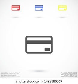 Credit card icon vector payment sign.Credit card icon vector,Credit card icon in trendy flat style isolated on white background Credit card icon web.