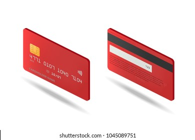 Credit card isometric icon