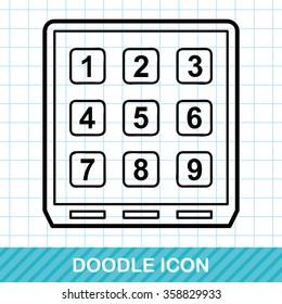 Credit card machine doodle