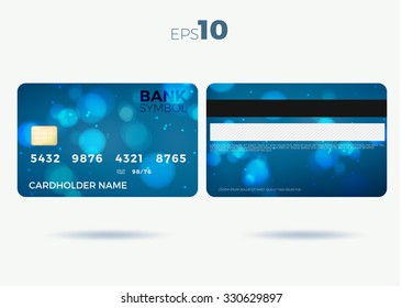 credit card modern design