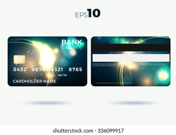 credit card modern fier design