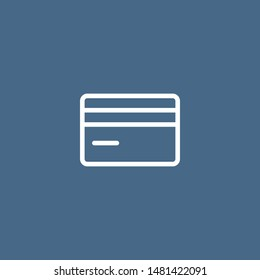 Credit card outline vector icon