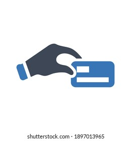 Credit card payment icon (vector illustration)