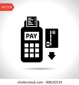 Credit card payment, magnetic stripe reading