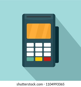 Credit card reader icon. Flat illustration of credit card reader vector icon for web design