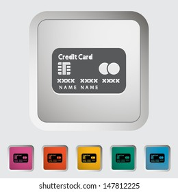 Credit card single icon. Vector illustration.