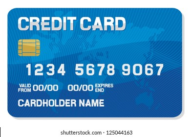 credit card with a smart chip