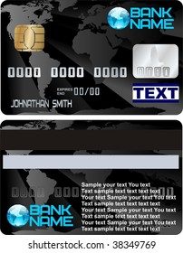 credit card vector design one