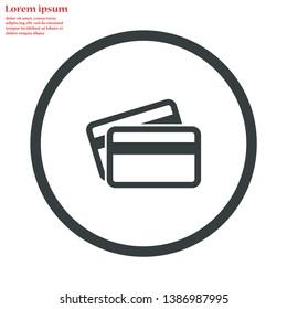 credit card vector icon 10 eps , Lorem ipsum Flat design