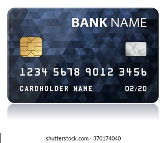 Credit Card Vector illustration of black credit card isolated on white background