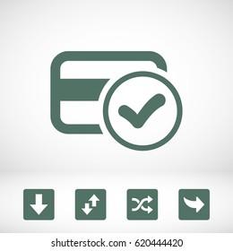Credit card vector web icon