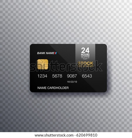 credit cards isolated realistic on transparent stock vector royalty