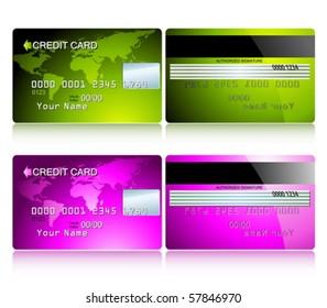 credit cards set