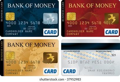 Credit Cards vector set
