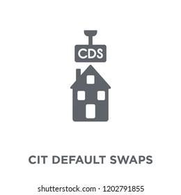 Credit default swaps icon. Credit default swaps design concept from Credit default swaps collection. Simple element vector illustration on white background.
