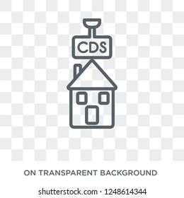 Credit default swaps icon. Credit default swaps design concept from Credit default swaps collection. Simple element vector illustration on transparent background.